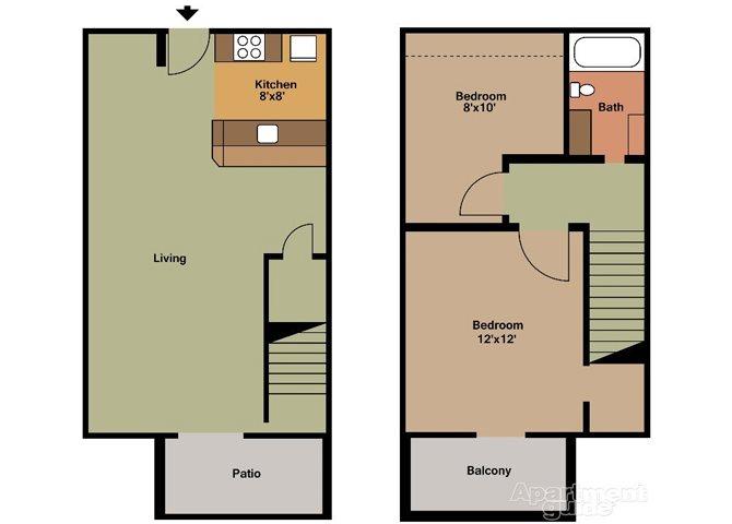 2x1D Floor Plan 3