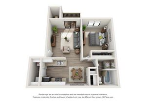 1x1 Bedroom - Renovated