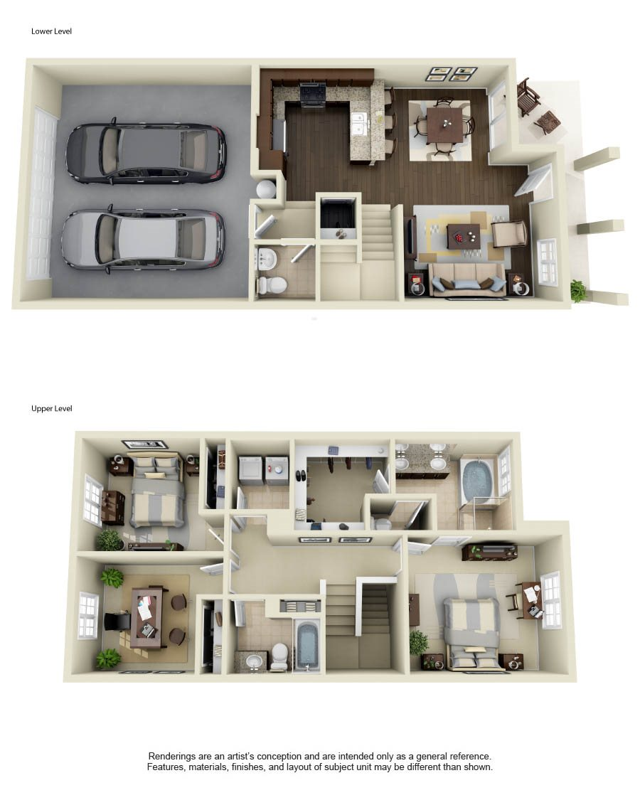 Apartments For Rent In Santa Clarita: Floor Plans Of Townhomes At Lost Canyon In Santa Clarita, CA