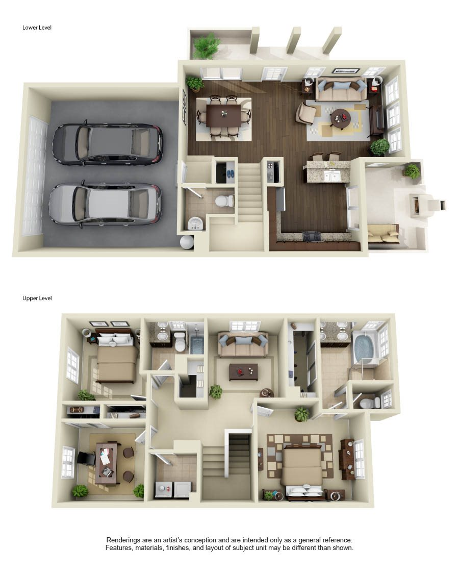 Floor Plans Of Townhomes At Lost Canyon In Santa Clarita, CA