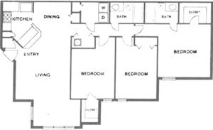 3 Bedroom/2 Bath (Standard)