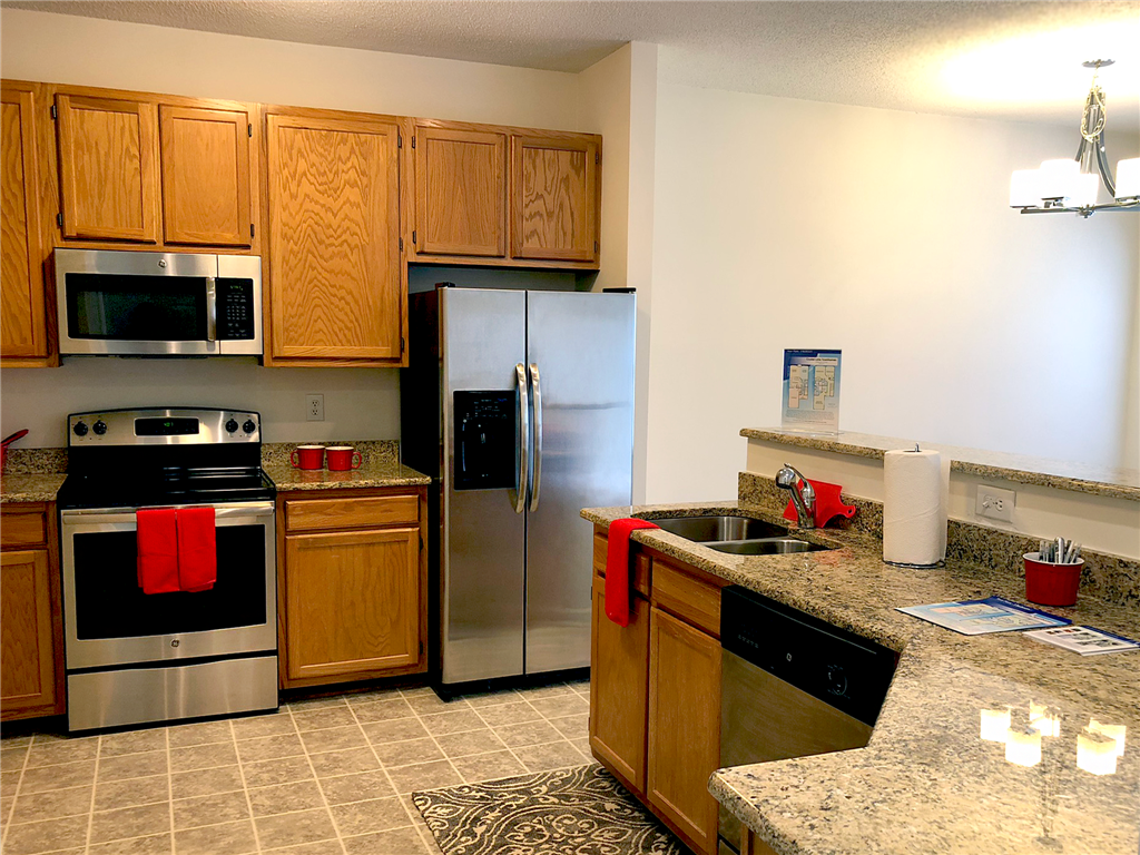 Kitchen at Crystal Lake Townhomes, Greensboro, NC