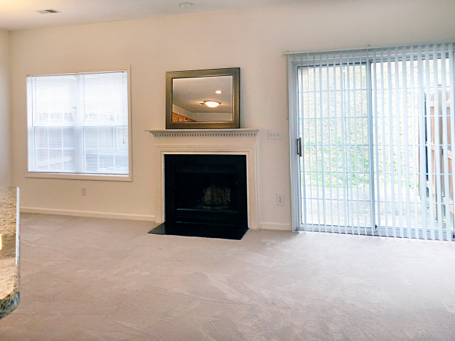 Living Room Space at Crystal Lake Townhomes, Greensboro, NC