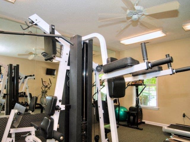 Fully Equipped Fitness Center at Treybrooke Village Apartments, North Carolina, 27406