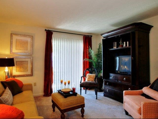 Living Room Interiors at Treybrooke Village Apartments, Greensboro, North Carolina