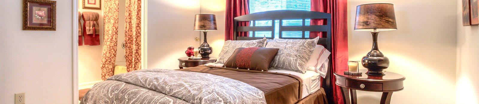 Large Bed at Brannigan Village Apartments, Winston Salem, NC, 27127