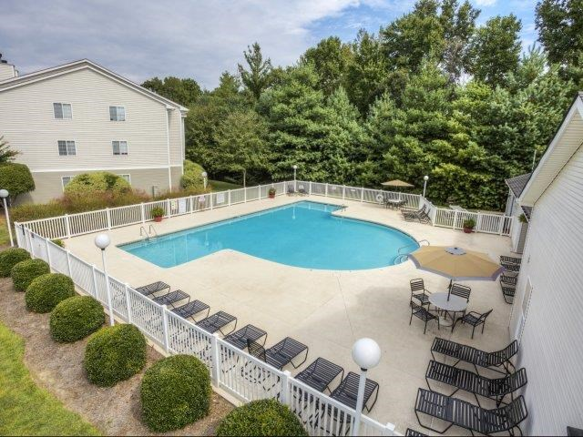 Pool Side Relaxing Area at Brannigan Village Apartments, Winston Salem, NC, 27127