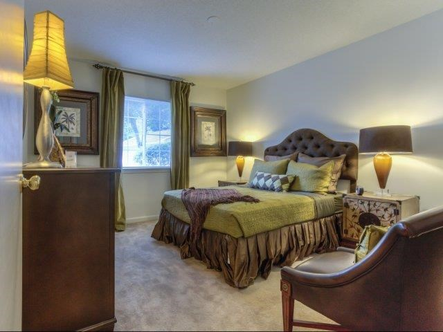 Master Carpeted Bedroom at Brannigan Village Apartments, Winston Salem, NC, 27127