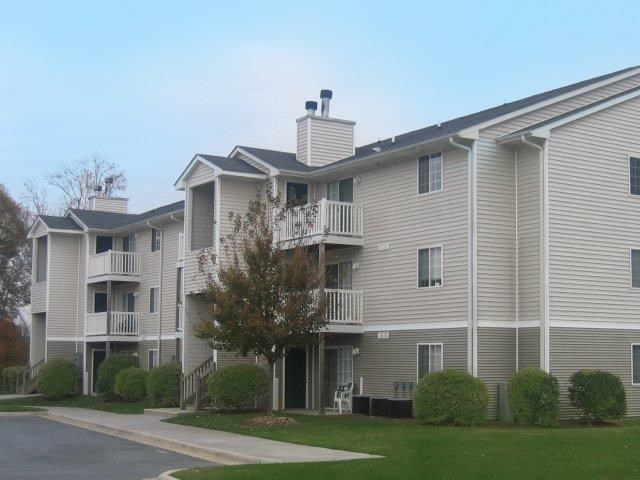 Apartment Complex Exterior at Brannigan Village Apartments, Winston Salem, NC, 27127
