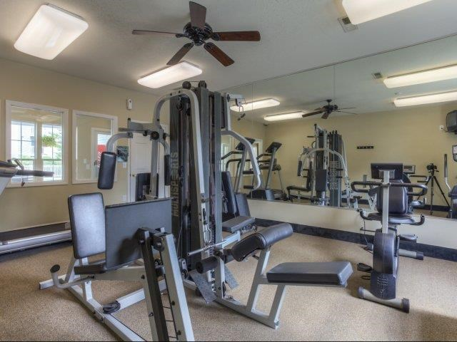 Fully Equipped Fitness Center at Brannigan Village Apartments, North Carolina, 27127