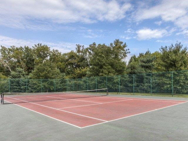 Professional Grade Tennis Court at Brannigan Village Apartments, North Carolina