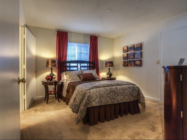 Modern Bedroom Furnishings at Brannigan Village Apartments, Winston Salem, North Carolina