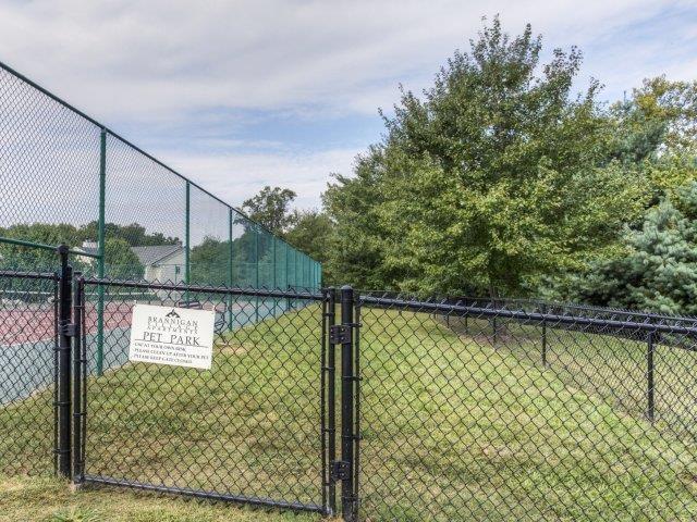 Fenced Yard at Brannigan Village Apartments, North Carolina
