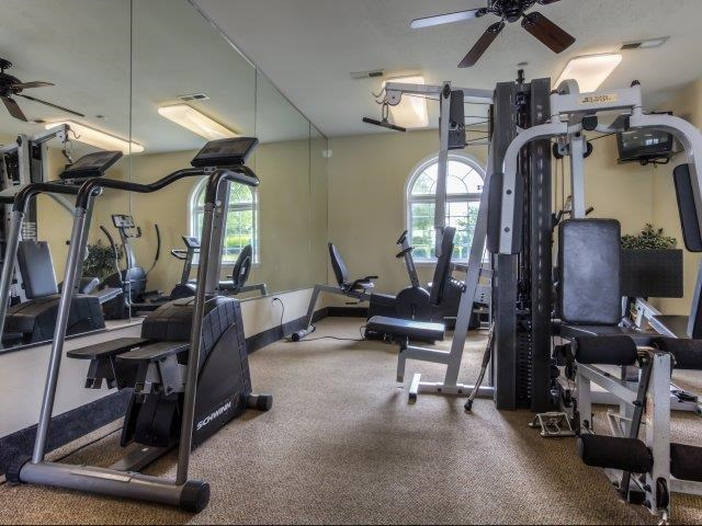 Fitness Center with Updated Equipment at Brannigan Village Apartments, Winston Salem, NC, 27127