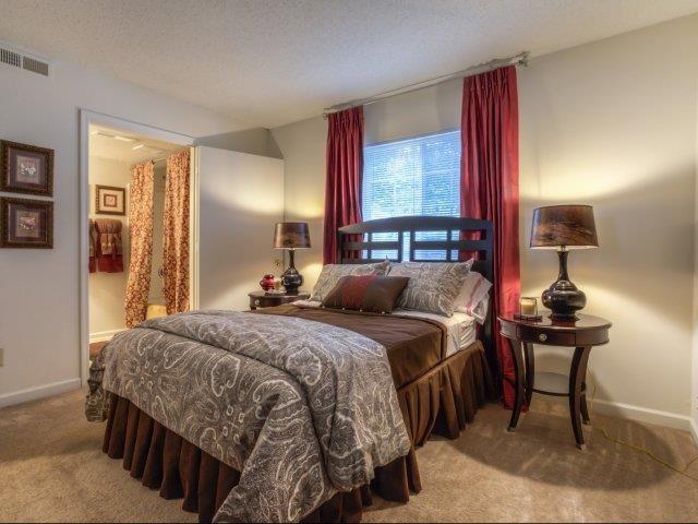 Upgraded Bedroom Modern Lighting at Brannigan Village Apartments, Winston Salem, 27127