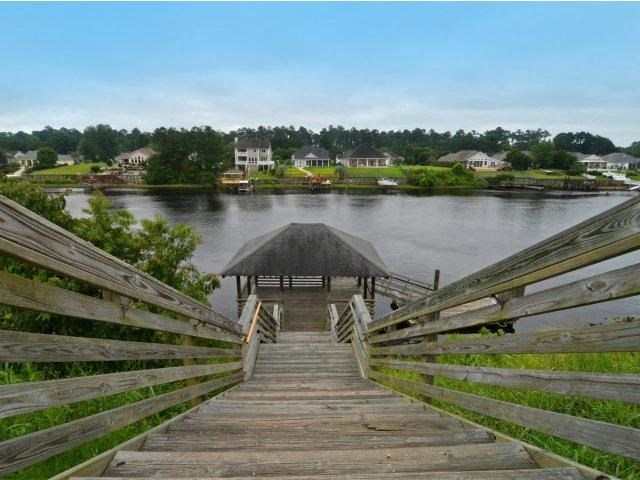 Wooden Bridge Near River at River Landing Apartments, Myrtle Beach, 29579