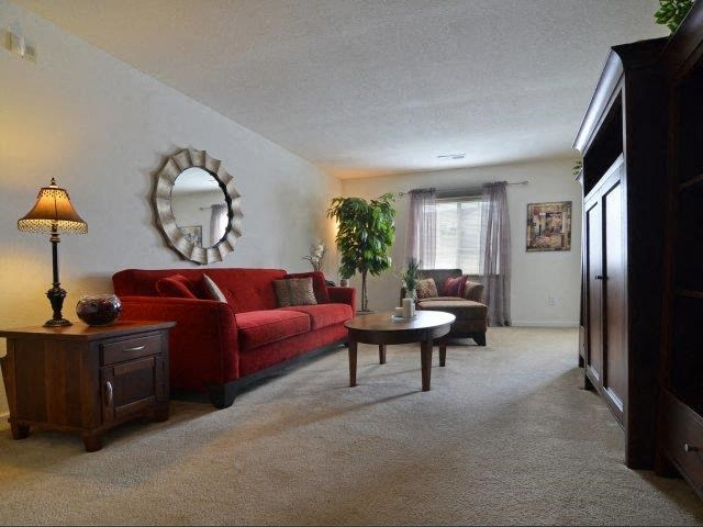 Contemporary Living Room at River Landing Apartments, Myrtle Beach, SC, 29579