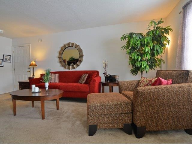 Upgraded Living Room Interiors at River Landing Apartments, South Carolina, 29579