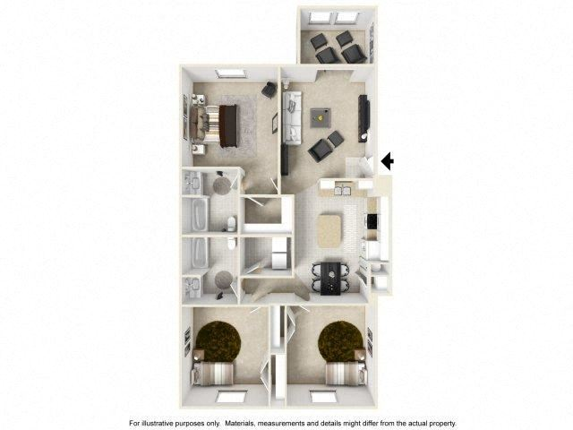 Affinity Floor Plan at Ascot Point Village Apartments, Asheville, NC