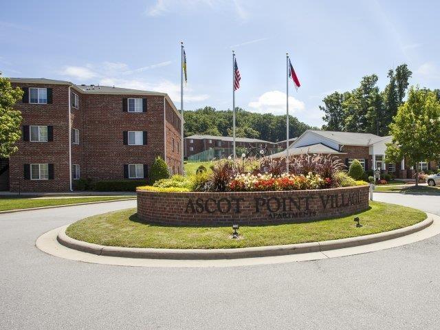 Front Entrance of Ascot Point Village Apartments, Asheville, 28803