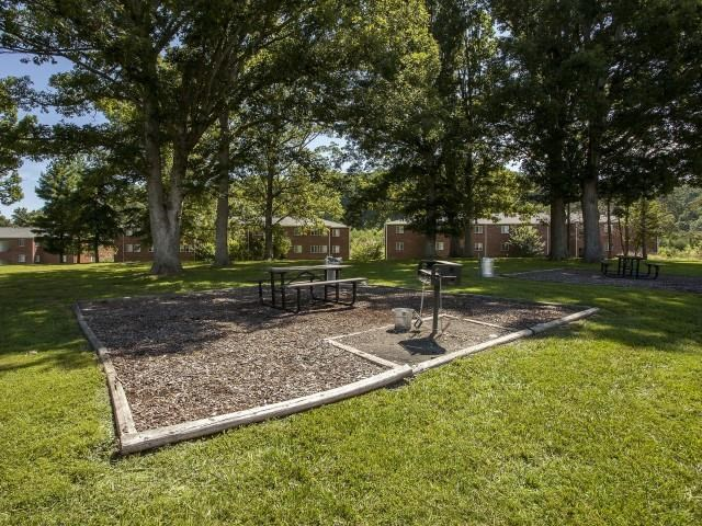 Beautiful Community Backyard at Ascot Point Village Apartments, North Carolina, 28803