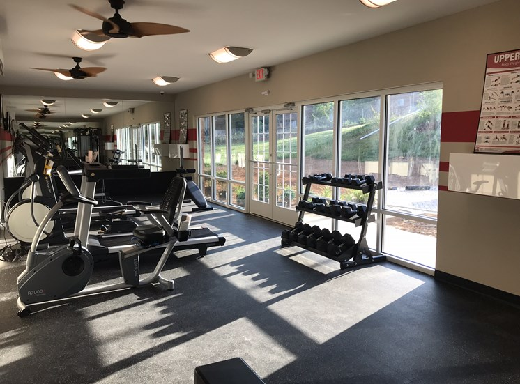 Elite Fitness Center at Ascot Point Village Apartments in Asheville, NC