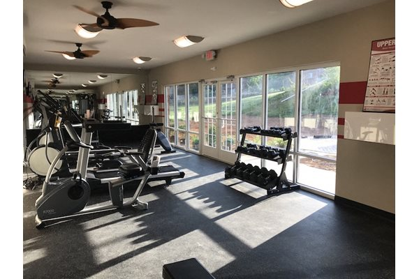 Fully Equipped Fitness Center at Ascot Point Village Apartments, North Carolina, 28803