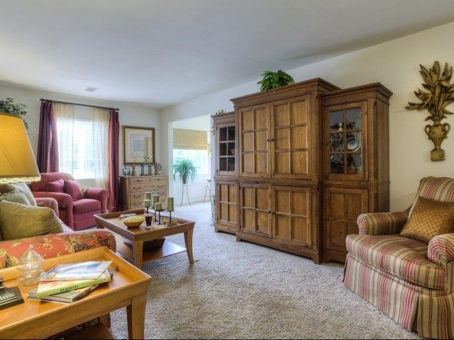 Contemporary Living Room at Ascot Point Village Apartments, Asheville, NC, 28803