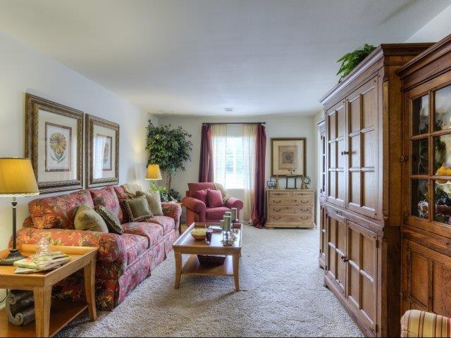 Living Room Detail at Ascot Point Village Apartments, North Carolina, 28803