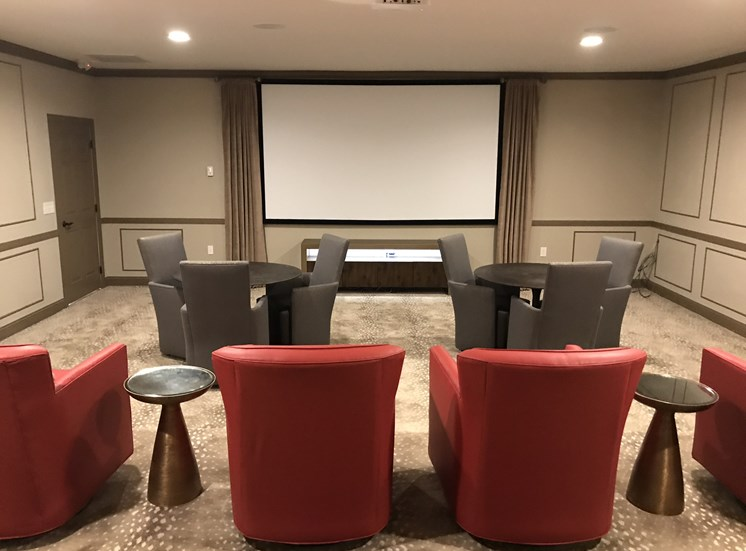 Luxury Movie Theater at Ascot Point Village Apartments in Asheville, NC