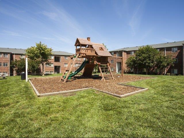 Kids Play Structure at Ascot Point Village Apartments, North Carolina