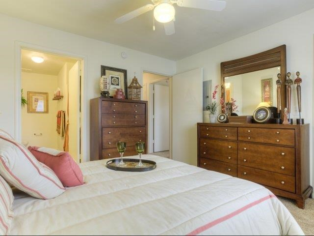 Upgraded Master Bedroom Interior at Ascot Point Village Apartments, Asheville, 28803