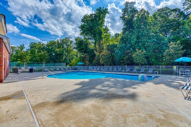 Clean Outdoor Pool at Copper Mill Village Apartments, High Point, NC, 27265