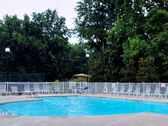 Pool Side Relaxing Area at Copper Mill Village Apartments, High Point, North Carolina