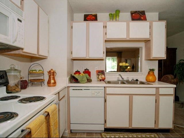 Spacious Kitchen with Pantry Cabinets at Broadstone Village Apartments, High Point, 27260