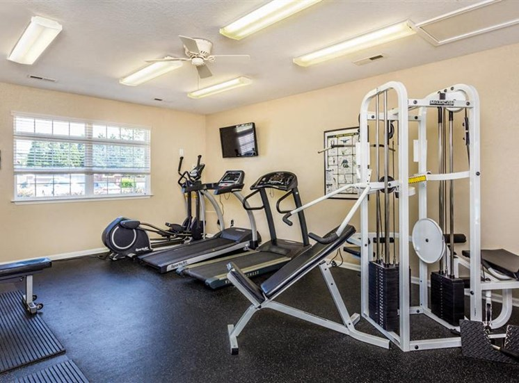 Fully Equipped Fitness Center at Hidden Creek Village Apartments, Fayetteville