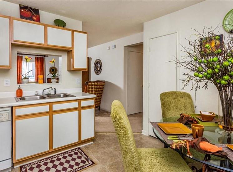 Kitchen at Hidden Creek Village Apartments, Fayetteville, NC