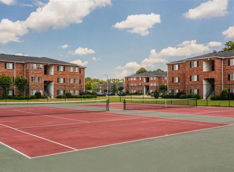 Professional Grade Tennis Courts at Hidden Creek Village Apartments, Fayetteville, NC