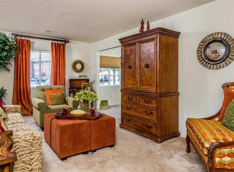 Luxurious Living Room Interiors  at Hidden Creek Village Apartments, Fayetteville, NC