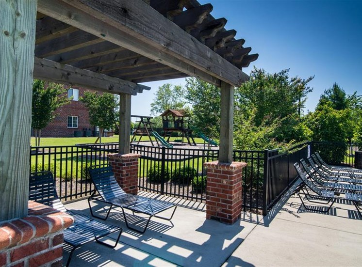 Beautiful Sundeck at Deer Meadow Village Apartments, Columbia, SC