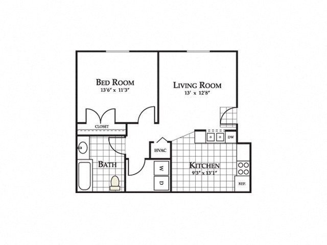 Floor plan at Eagle Point Village Apartments, Fayetteville