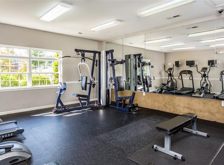 24-Hour Fitness Center at Eagle Point Village Apartments, Fayetteville, NC, 28314