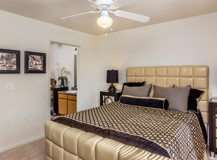 Master Bedroom at Eagle Point Village Apartments, North Carolina, 28314