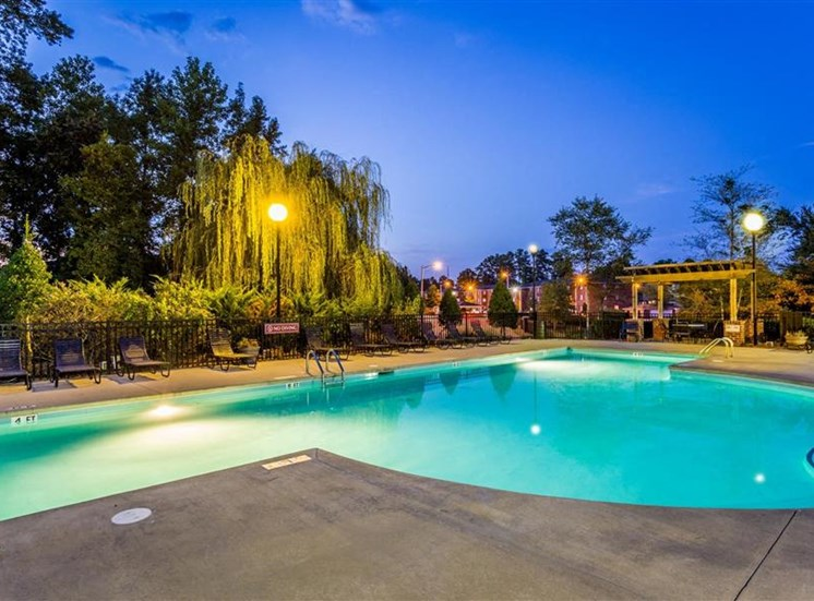 Resort-Inspired Pool at Eagle Point Village Apartments, Fayetteville