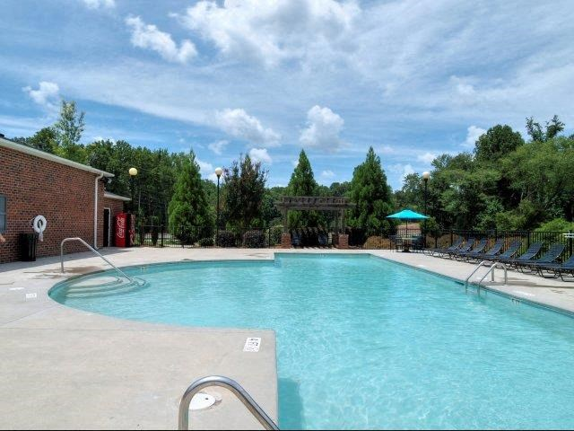 Pool Seating at Battleground North Apartments, North Carolina, 27410