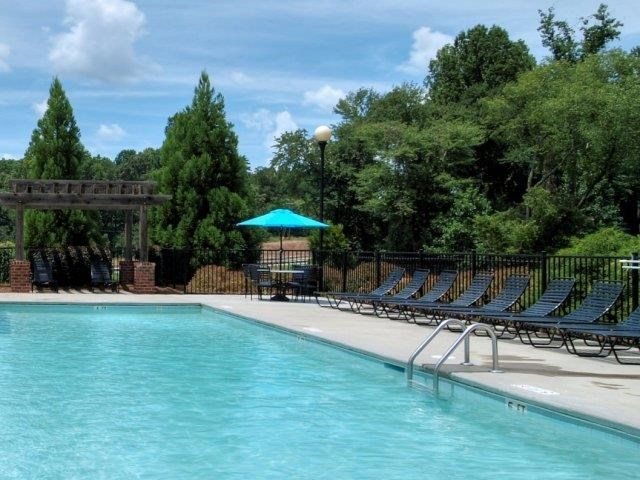 Pool Side Relaxing Area at Battleground North Apartments, North Carolina