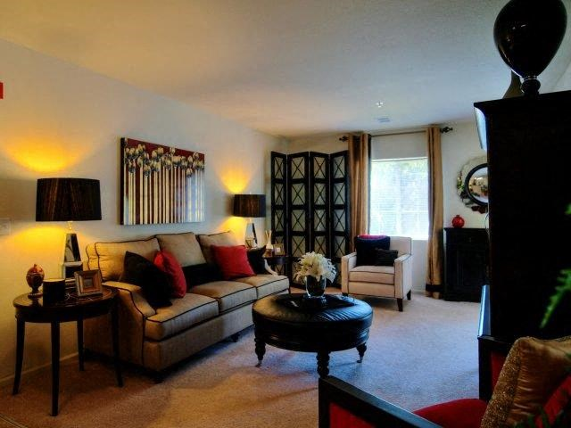 Luxurious Living Room Interior at Battleground North Apartments, Greensboro