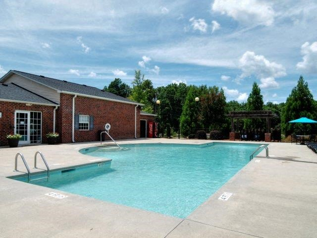 Resort-Style Pool at Battleground North Apartments, Greensboro, North Carolina