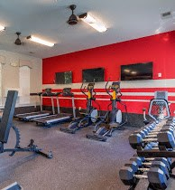 24-Hour Fitness Center at Cobblestone Village Apartments in Summerville