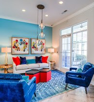 Clubhouse Lounge at Cobblestone Village Apartments